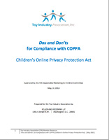DOS AND DON'TS FOR COMPLIANCE WITH COPPA (CHILDREN'S ONLINE PRIVACY PROTECTION ACT)